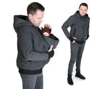 New Men Sweater/hoodie - Grey/Black