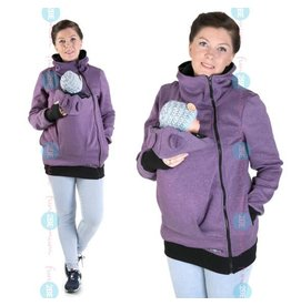 MAYA - Gilet de portage coton - violet