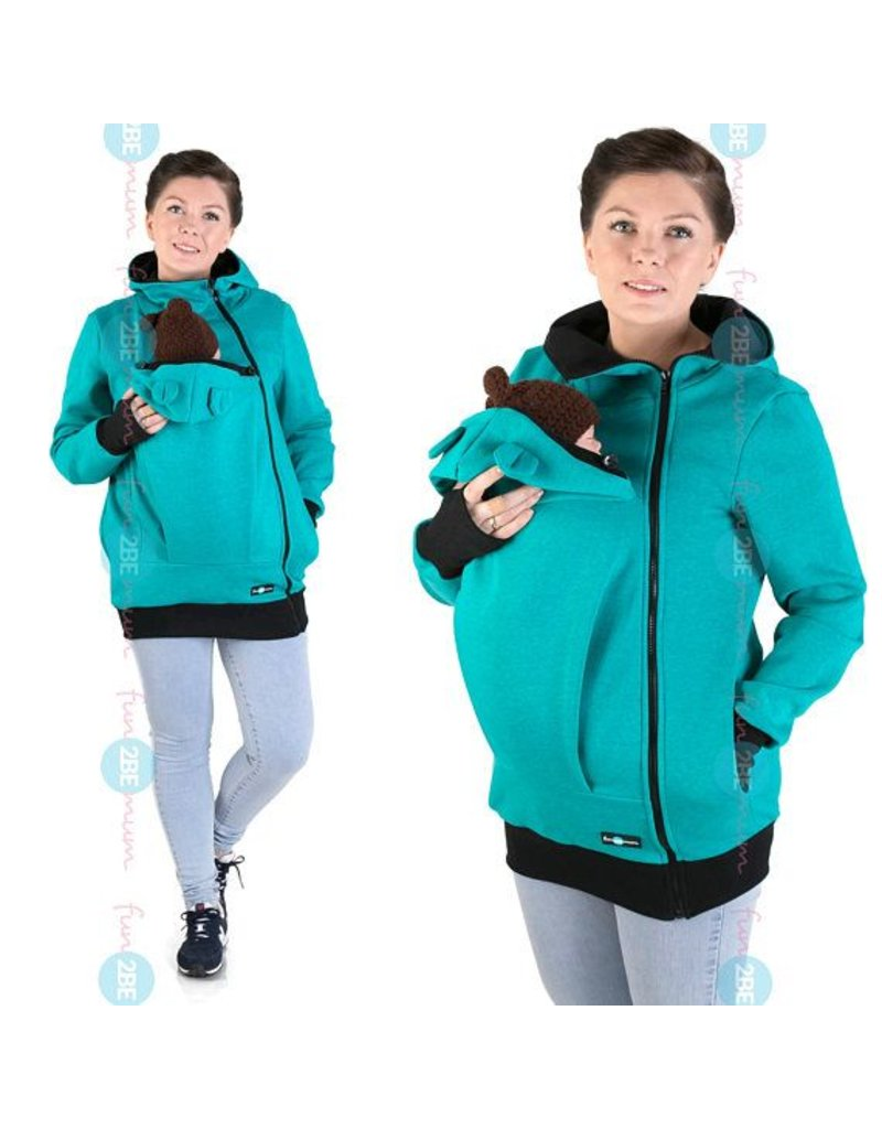 MAYA - Gilet de portage coton - turquoise