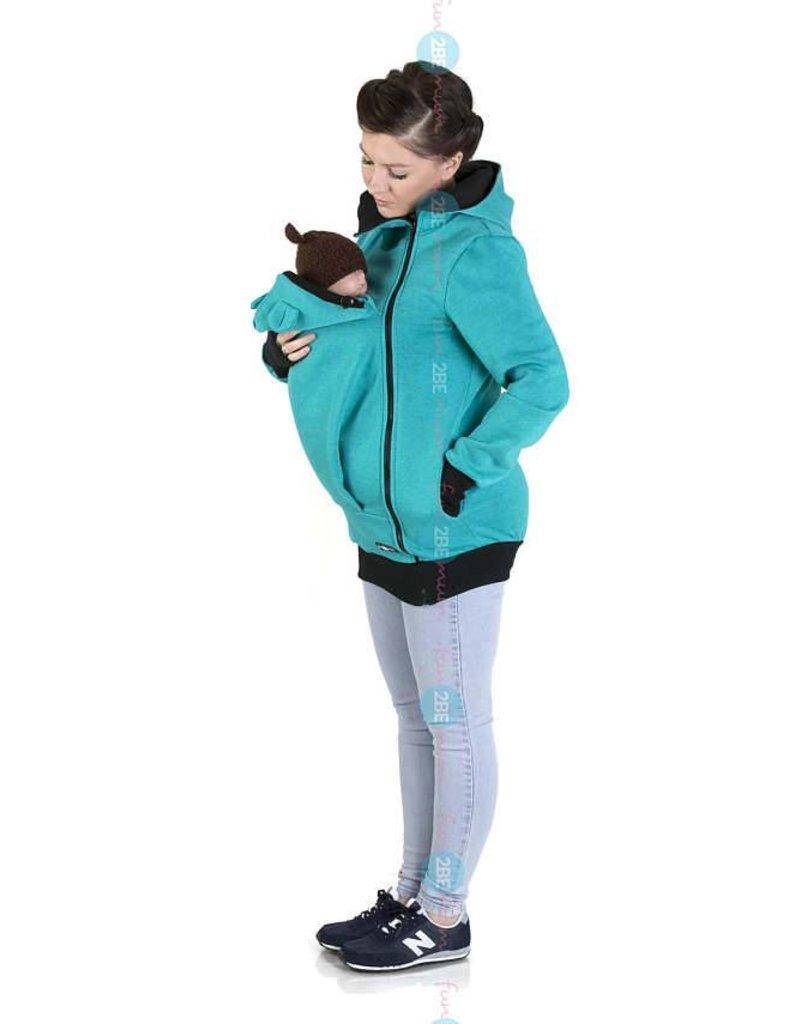 MAYA - Babywearing vest cotton - turquoise