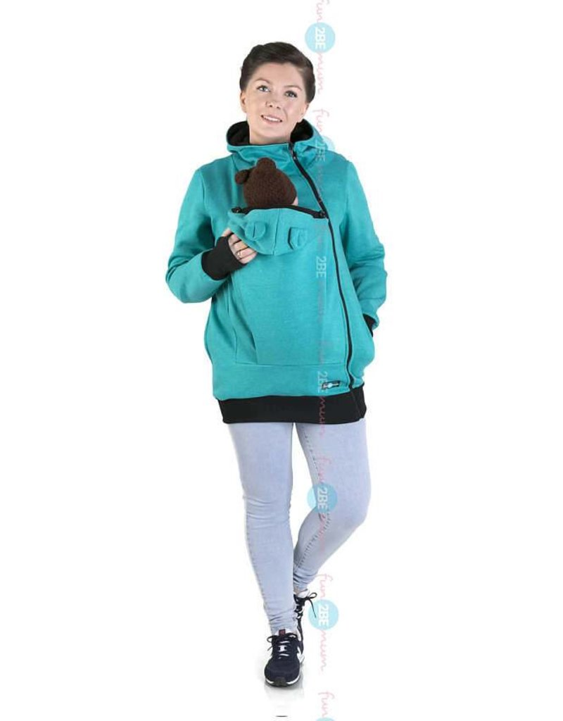 MAYA - Draagvest katoen – turquoise