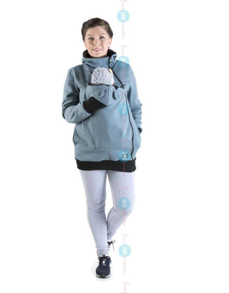 MAYA - Babywearing vest cotton - blue jeans