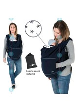 Babywearing cover - Fleece - Navy / stars