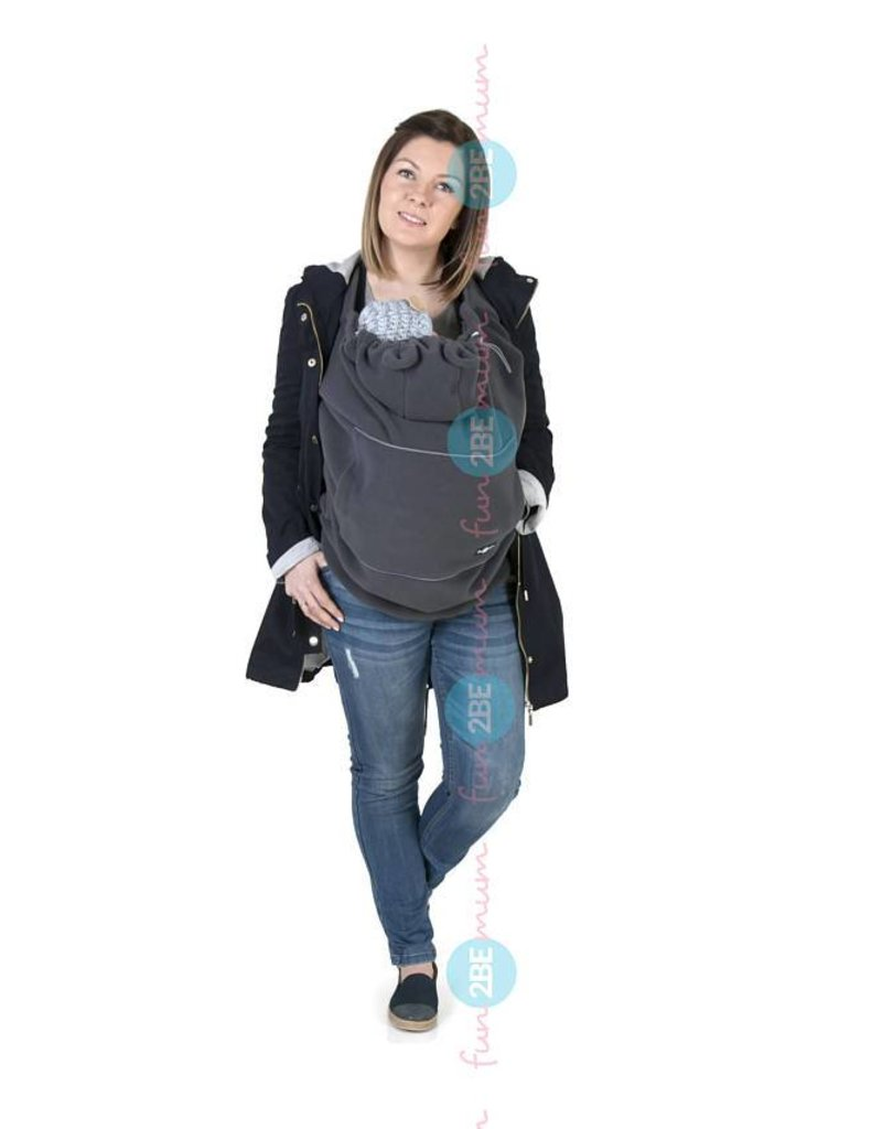 Babywearing cover - Fleece - Graphite/mint/dots
