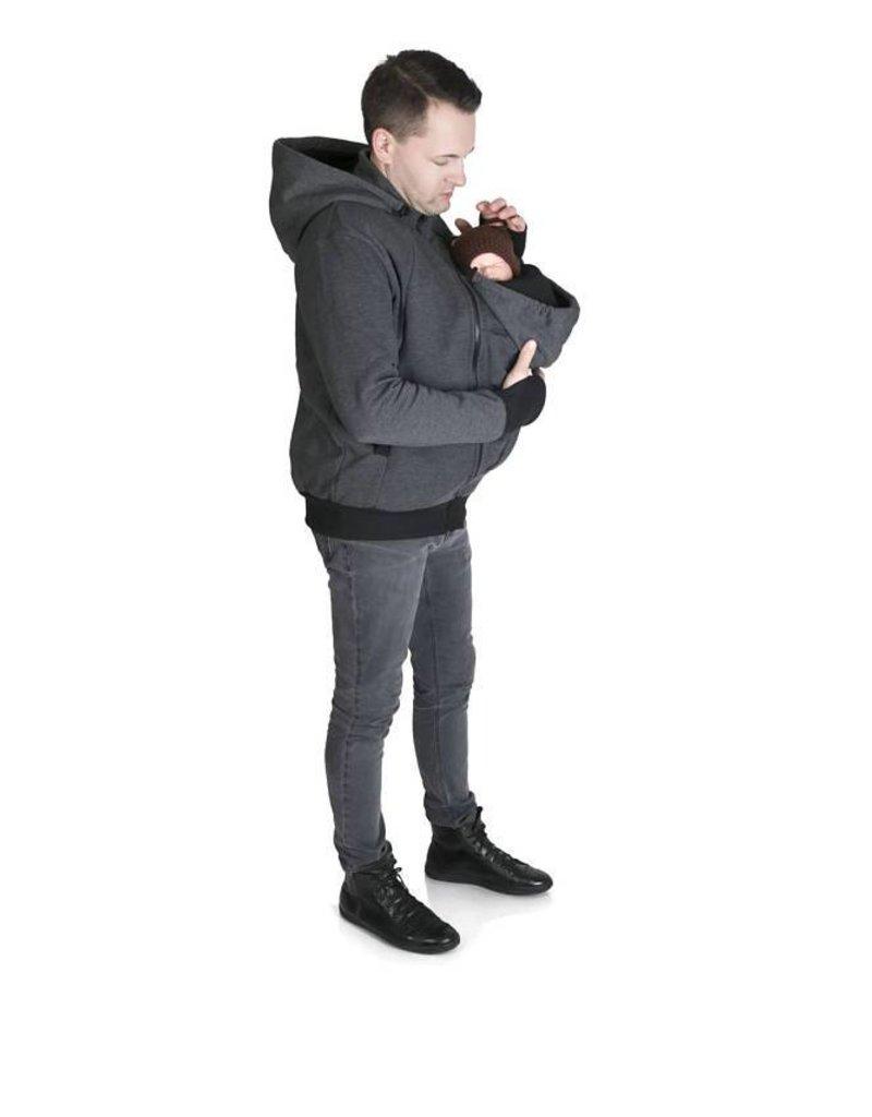 Gilet de portage pour hommes avec fonction portage à dos - Graphite / Noir
