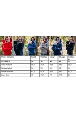 Fleece babywearing Sweater - Black / Illusion - with bacwearing function