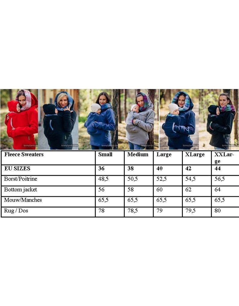 Fleece Draagsweater – Navy/Petrea – met rugfunctie