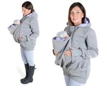 LUNA 3in1 babywearing fleece - Grey / lilac