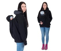 KOALA 3in1 babywearing jacket with backwearing function - Black / Dots
