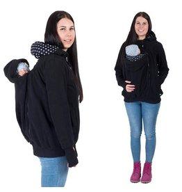 KOALA 3in1 Manteau de portage avec portage au dos - Noir / points
