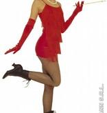 Rode handschoenen 60cm