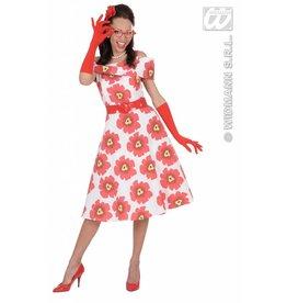 Handschoenen rood lycra