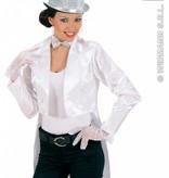 Witte handschoenen kort 25cm