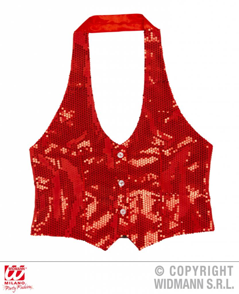 Toppers gilet dames rood