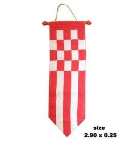 Wimpel de luxe rood/wit 290x25cm