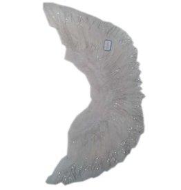Vleugels wit met zilver 55x30cm