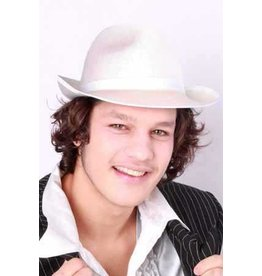 Al capone hoed satijn wit