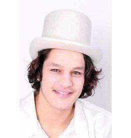 Witte hoge hoed