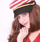 Cap schipper rood/wit
