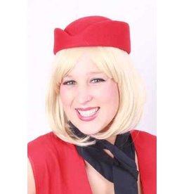 Stewardess hoed rood