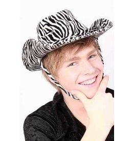 Cowboyhoed madonna zebraprint wit