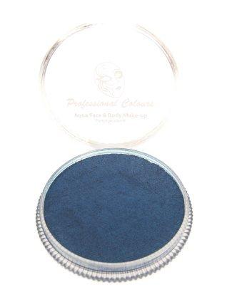 Aqua schmink metallic donker blauw 30 gram