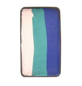 Splitcake  blauw, groen, wit