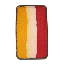 Splitcake  rood, wit, geel