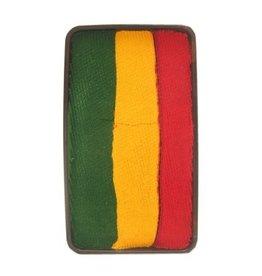 Splitcake rood, geel, groen
