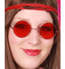 Hippiebril rood