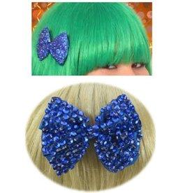 Haarklem strikje blauw