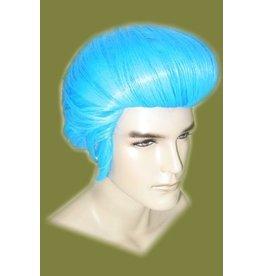 Elvis pruik blauw