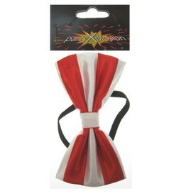 Strik luxe rood/wit