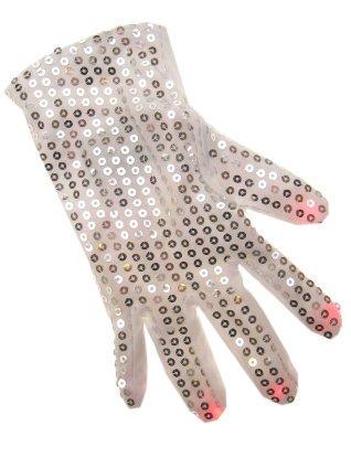 Handschoenen wit pailletten