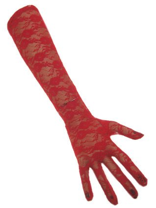 Handschoen kant rood