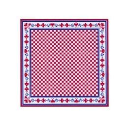 Zakdoek rood-wit 59 x 59 cm