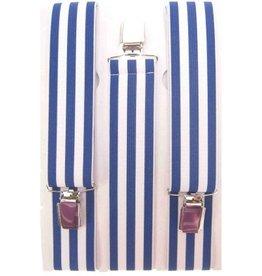 Bretels blauw/wit