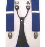 Bretels leder blauw
