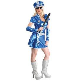 Politie dame blauw met pet
