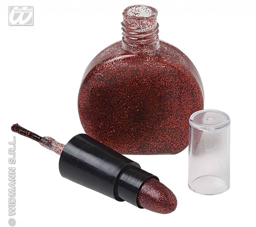 Rode lippenstift en nagellak