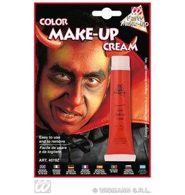 Rode make-up schmink