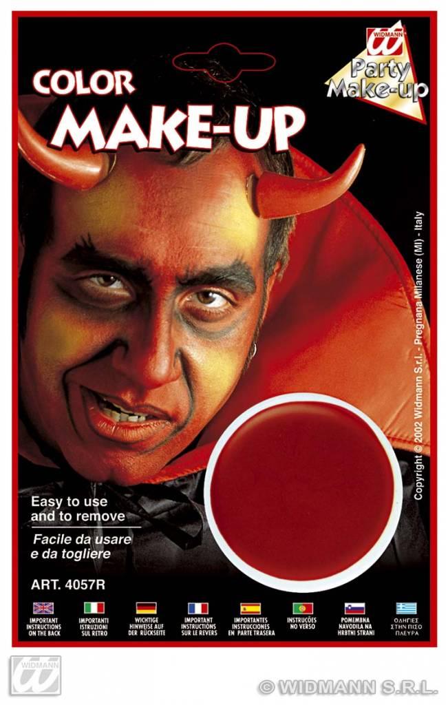 Rode aqua make-up schmink