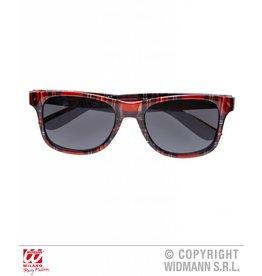 Bril tartan rood