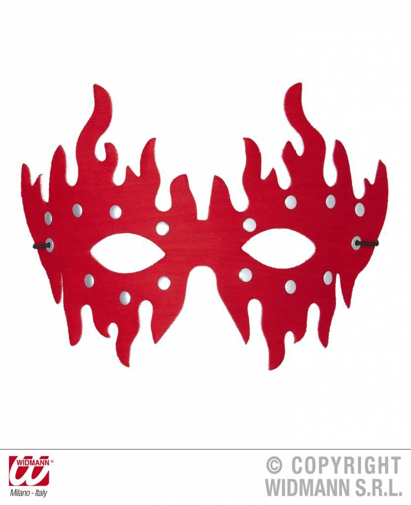 Rood oogmasker met stenen
