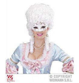 Wit Venetiaans oogmasker
