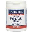 Lamberts Folic Acid 400 mcg 100 tab