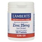 Lamberts Zinc 25mg 120 tab