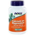 NOW Calcium en Magnesium 100 tab