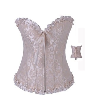 Beige corset met detail