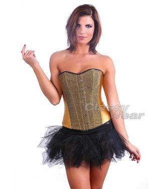Goud corset met glitter